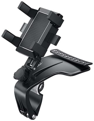 Brolaviya Universal Rotation Car Phone Holder with Multifunction Use with Parking Card For All Mobile Phones 3 to 7 Inch