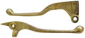 Bullet Motorcycle Brass Engraved Clutch and Brake Lever Set for Classic 350cc & 500cc Model