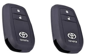 Buy 1 Get 1 Free Silicone Key Cover For Toyota Innova Crysta 2016 (For Push Button Smart Key Only)