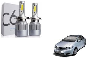 C6 White Headlight Bulb Set of 2 For Honda City ivtech