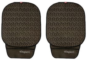 Caper Cool Pad Car Seat Cushion Black and Grey (Set of 2)