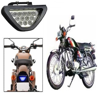 Capeshopper Blue 12 Led Brake Light With Flasher For Hero Motocorp CD 100 SS -Blue