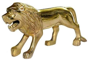 Capeshoppers Brass Standing lion on mudgaurd For Royal Enfield CLASSIC DESERT STROM