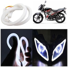 Capeshoppers Flexible 30Cm Audi / Neon Led Tube For Yamaha Ss 125 -White