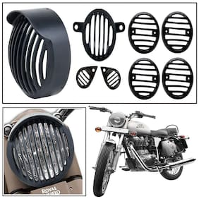 Capeshoppers Customized Cap Head light grill Cover Combo For Bullet Electra Twinspark