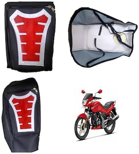 Capeshoppers Utility Big Tank bag Red For Hero MotoCorp CBZ EX-TREME Double Seater