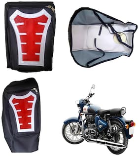 Capeshoppers Utility Big Tank bag Red For Royal Enfield Thunder Bird 500
