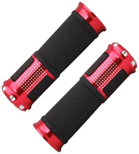 Capeshoppers Stylish Bike Handle Grips For Bajaj Discover 100 T Disc