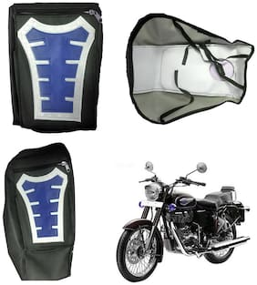 Capeshoppers Utility Big Tank bag Blue For Royal Enfield Bullet Electra Standard