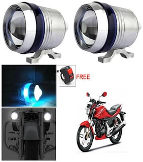 Capeshoppers U3 Headlight Fog Lamp With Lens Cree Led For Hero MotoCorp SPLENDER PRO N/M