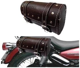 Capeshoppers Royal Enfield Saddle Bag Universal- Dark Brown