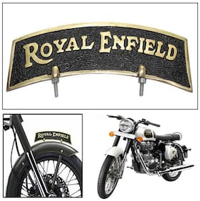 Capeshoppers brass mudguard logo for Royal Enfield Classic 350