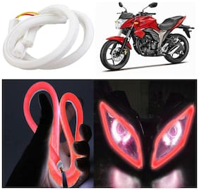 Capeshoppers Flexible 30Cm Audi / Neon Led Tube For Suzuki Gixxer 150 -Red