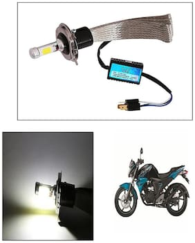 Capeshoppers Peacock Design High Power Cob Led Headlight For TVS Pep+ Scooty