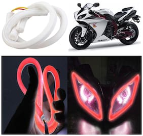 Capeshoppers Flexible 30Cm Audi / Neon Led Tube For Yamaha Yzf-R1 -Red