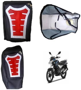 Capeshoppers Utility Big Tank bag Red For Bajaj Discover 100 M Disc