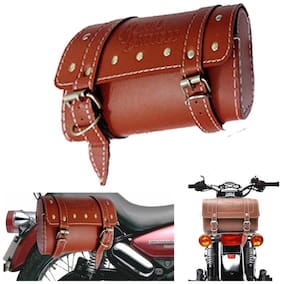 Capeshoppers Royal Enfield Saddle Bag For Royal Enfield- Beige