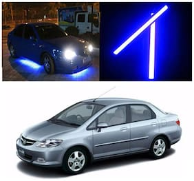 Capeshoppers Car Daytime Running Light (DRL)Blue For Honda City ZX 2005