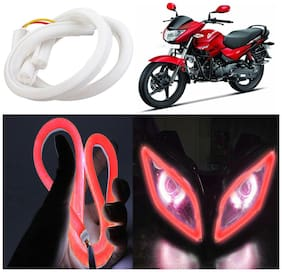Capeshoppers Flexible 30Cm Audi / Neon Led Tube For Hero Motocorp Glamour PGM FI -Red