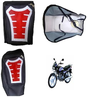 Capeshoppers Utility Big Tank bag Red For Hero MotoCorp Splendor Pro
