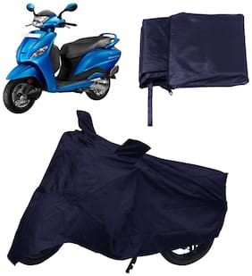 Capeshoppers Bike Body Cover Blue For Hero Motocorp Pleasure Scooty