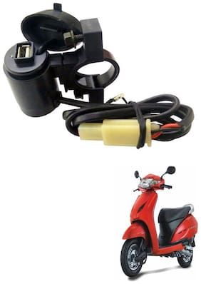 Capeshoppers Waterproof Bike USB Mobile Charger For Honda Activa Scooty