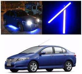 Capeshoppers Car Daytime Running Light (DRL)Blue For Honda City 2009