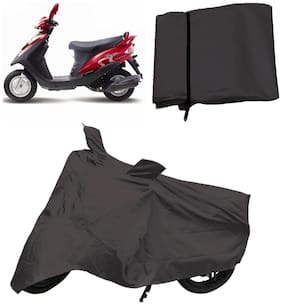 Capeshoppers Bike Body Cover Grey For Mahindra Flyte Sym Scooty