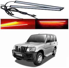 Capeshoppers Car Daytime Running Light (DRL)Red For Mahindra Scorpio