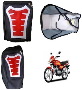 Capeshoppers Utility Big Tank bag Red For Hero MotoCorp HF Deluxe