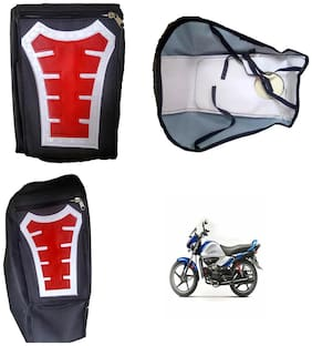 Capeshoppers Utility Big Tank bag Red For Hero MotoCorp Splendor Ismart