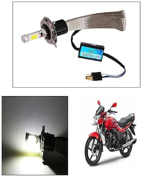 Capeshoppers Peacock Design High Power Cob Led Headlight For Hero MotoCorp Splendor Plus