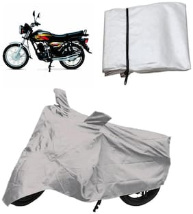Capeshoppers Bike Body Cover Silver For Tvs Max 4R