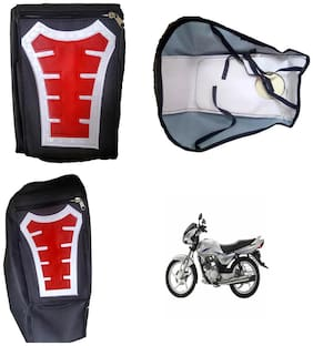 Capeshoppers Utility Big Tank bag Red For Suzuki ZEUS