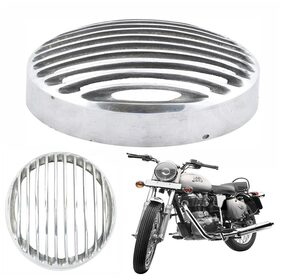 Capeshoppers Headlight Grill Chrome Color For Royal Enfield Bullet Electra Twinspark