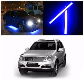 Capeshoppers Car Daytime Running Light (DRL)Blue For Mahindra SsangYong Rexton