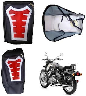 Capeshoppers Utility Big Tank bag Red For Royal Enfield BULLET 500