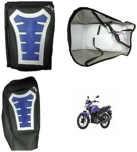 Capeshoppers Utility Big Tank bag Blue For Suzuki Gixxer 150