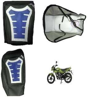 Capeshoppers Utility Big Tank bag Blue For Bajaj XCD 125CC