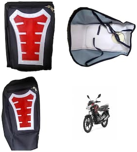 Capeshoppers Utility Big Tank bag Red For Bajaj Discover 100 T Disc