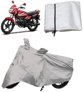 Capeshoppers Bike Body Cover Silver For Hero Motocorp Splendor Nxg