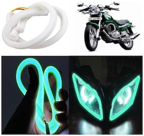 Capeshoppers Flexible 30Cm Audi / Neon Led Tube For TVS Fiero F2 -Green
