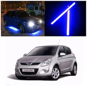 Capeshoppers Car Daytime Running Light (DRL)Blue For Hyundai i20 2008