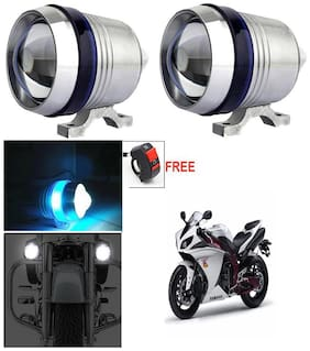 Capeshoppers U3 Headlight Fog Lamp With Lens Cree Led For TVS Pep+ Scooty