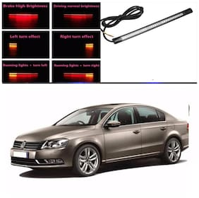 Capeshoppers Car Daytime Running Light (DRL)Red with flash For Volkswagen passat