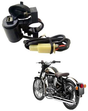 Capeshoppers Waterproof Bike USB Mobile Charger For Royal Enfield BULLET 350