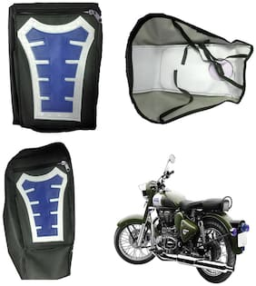 Capeshoppers Utility Big Tank bag Blue For Royal Enfield Classic 500