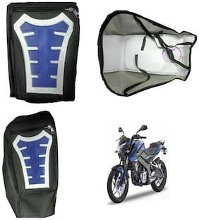 Capeshoppers Utility Big Tank bag Blue For Bajaj Pulsar 200 Ns