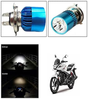 Capeshoppers H4 3Led Super White Headlight Bulb For Hero MotoCorp Ignitor 125 Drum