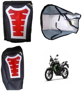 Capeshoppers Utility Big Tank bag Red For Yamaha FZS